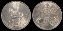 World Coins - 1953 Great Britain 1 Crown - Coronation of Queen Elizabeth II - BU