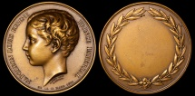 World Coins - 1863 France - Napoléon Eugène Louis Jean Joseph Bonaparte, prince Impérial de France - Birth Commemorative Medal by Jean François Antoine Bovy
