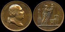 World Coins - 1820 France – Birth of the Miracle Child – Henri V By Jean-Bertrand Andrieu, Alexis Joseph Depaulis &  Baron Jean Pierre Casimir de Marcassus de Puymaurin