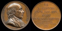 World Coins - 1819  France - Pierre Jean Baptiste Gerbier, French lawyer and orator by Etienne Jacques Dubois for the series Galerie Metallique des Grands Hommes Francais