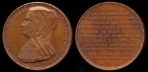 World Coins - 1530  Belgium - Margaret of Austria, Duchess of Savoy Commemorative Medal by Adolphe Christian Jouvenel