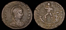 Ancient Coins - Valentinian II  Ae2 - GLORIA ROMANORVM - Heraclea Mint