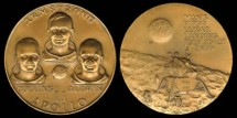 Us Coins - 1969 US: Apollo 11 Commemorative Medal