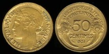 World Coins - 1931 France 50 Centimes XF