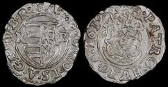 World Coins - 1619 KB Hungary 1 Denar - Mathias II - AU Silver