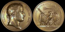 World Coins - 1805 France - Napoleon - Lifting of the Camp at Boulogne - Passage of the Rhine by Jean-Bertrand Andrieu, Nicolas Guy Antoine Brenet and Dominique-Vivant Denon