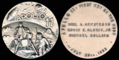 World Coins - 1969 Italy: Apollo 11 commemorative medal