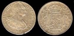 World Coins - 1795 Mo-FM Mexico 8 Reales AU