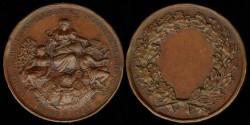 World Coins - 1877 France – Agricultural Award Medal.