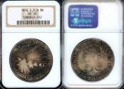 World Coins - 1846/2 NG-AE/MA Central American Republic 8 Reales NGC VF35