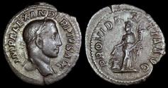 Ancient Coins - Severus Alexander Denarius - PROVIDENTIA AVG - Rome Mint