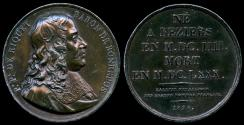World Coins - 1826  France - Pierre-Paul Riquet, Engineer and canal-builder responsible for the construction of the Canal du Midi by Etienne Jacques Dubois