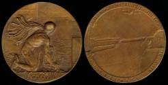 World Coins - 1928 Belgium – New Locks of Antwerpen Harbor, Laudatory Medal by Arthur Dupo