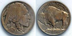 Us Coins - 1913 P Indian Head (Buffalo) Nickel - Type 1