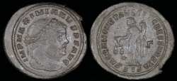 Ancient Coins - Maximianus Ae Follis - SACRA MONETA AVGG ET CAESS NOSTR - Siscia Mint