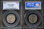 World Coins - 1941 Argentina 50 Centavos PCGS MS61