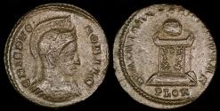 Ancient Coins - Crispus Ae3 - BEATA TRANQVILLITAS - London Mint
