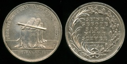 """World Coins - 1850  Germany - Religious Medal - """"Fear God and Keep His Commandants"""" - """"His Commandments are Not Heavy"""""""
