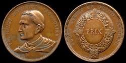 World Coins - 1900  France - School Prize Medal - Jean-Baptiste Henri-Dominique Lacordaire, ecclesiastic, preacher, journalist and political activist