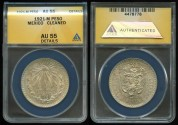 World Coins - 1921 M Mexico 1 Peso ANACS AU55