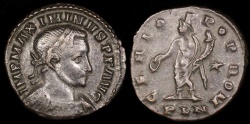 Ancient Coins - Maximinus II Follis - GENIO POP ROM - London Mint