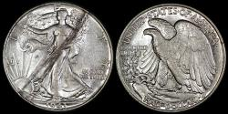 Us Coins - 1943 P Walking Liberty Half Dollar AU