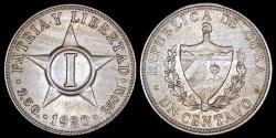 World Coins - 1920 Cuba 1 Centavo - 1st Republic - BU