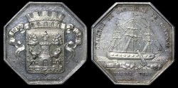 World Coins - 1845 France - Jeton - Chamber of Commerce of Bayonne by Nicolas Guy Antoine Brenet