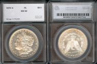 Us Coins - 1878s Morgan Dollar SEGS MS62-PL