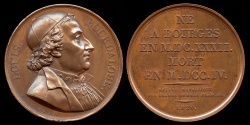 "World Coins - 1820  France - Louis Bourdaloue, French Jesuit and preacher, often described as ""king of preachers and the preacher of kings"" by Pierre-Simon-Benjamin Duvivier"