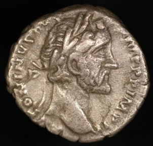 Ancient Coins - Antoninus Pius Denarius - TR POT XX COS IIII - Rome Mint