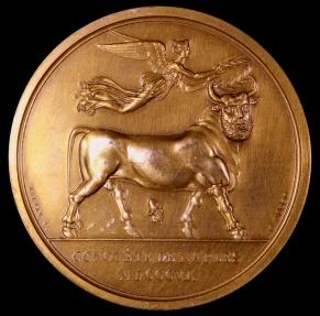 World Coins - 1806 France - Napoleon - Conquest of Naples by Nicolas Guy Antoine Brenet, Dominique-Vivant Denon and Jean-Bertrand Andrieu