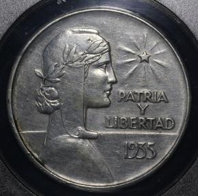 World Coins - 1935 Cuba 1 Peso -