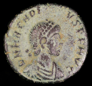 Ancient Coins - Arcadius Ae4 - VIRTVS EXERCITI - Nicomedia Mint
