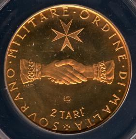 World Coins - 1968 Order of Malta 2 Tari (F.A.O. Series) ANACS PF67 RED