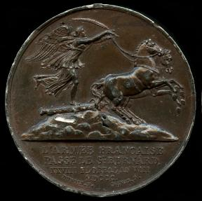 World Coins - 1800 France - Napoleon - The Army Crosses the St. Bernard / The Battle of Marengo by Etienne Jacques Dubois and Dominique-Vivant Denon