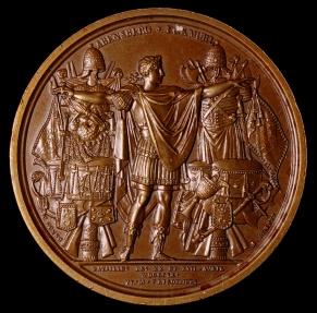 World Coins - 1809 France - Napoleon - Breaking of the Treaty of Pressburg by Jean-Bertrand Andrieu , Dominique-Vivant Denon and Nicolas Guy Antoine Brenet