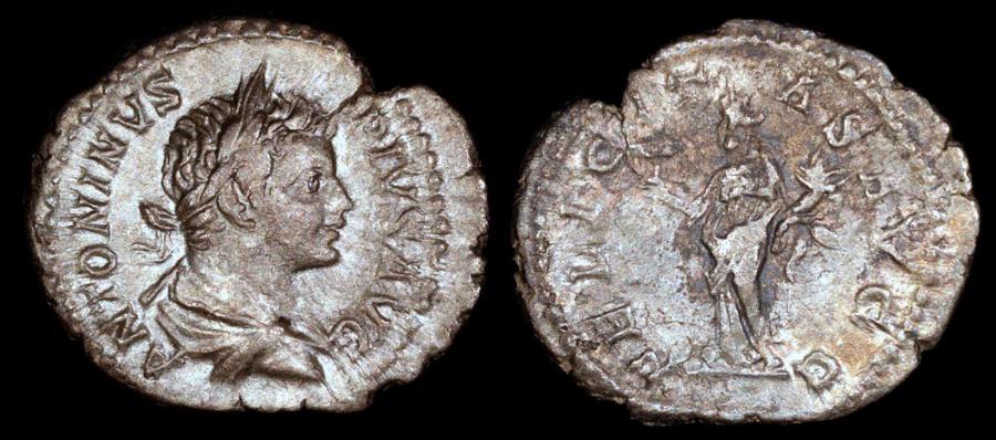 Ancient Coins - Caracalla Denarius - FELICITAS AVGG - Rome Mint