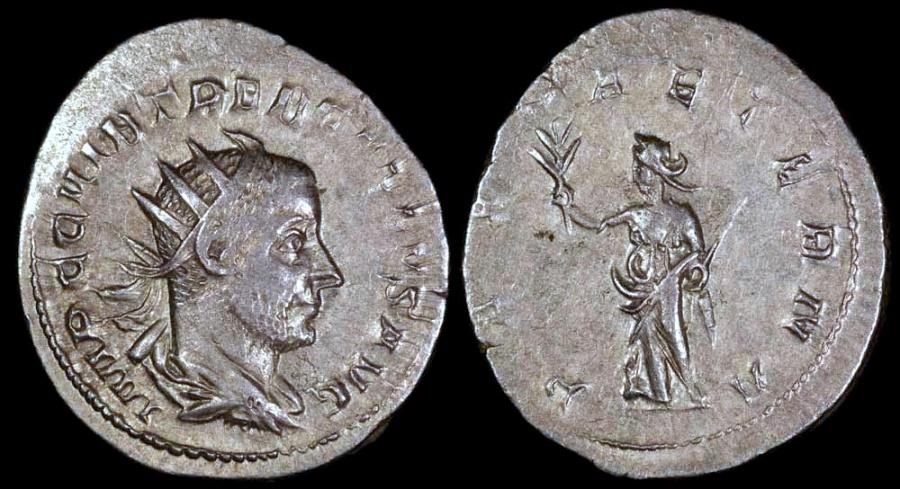 Ancient Coins - Trebonianus Gallus  Antoninianus - PAX AETERNA - Mediolanum Mint