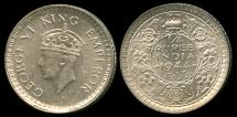 World Coins - 1944 B India (British) 1/4 Rupee UNC