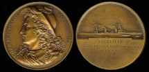 World Coins - 1928 France - Tourville French Navy Cruiser Commemorative Medal
