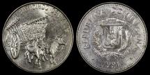 World Coins - 1991 Dominican Republic 25 Centavos BU