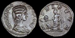 Ancient Coins - Julia Domna Denarius - MATRI DEVM - Rome Mint