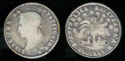 World Coins - 1854 MF-PTS Bolivia 4 Soles F; Silver