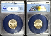 Us Coins - 1940 D Jefferson Nickel ANACS MS65