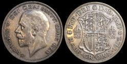 World Coins - 1932 Great Britain 1/2 Crown - George V - XF