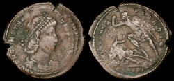 Ancient Coins - Constantius II Ae2 - FEL TEMP REPARATIO - Alexandria Mint