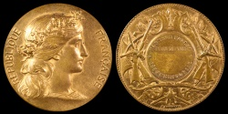 World Coins - 1885 France - Eure-et-Loir, Chartres  Shooting Competition Prize Medal by Charles-Jean-Marie Degeorge