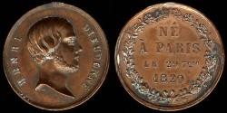 World Coins - 1820 France – Henri de France Commemorative Birth Medal