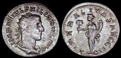 Ancient Coins - Philip I Antoninianus - LIBERALITAS AVG II - Rome Mint